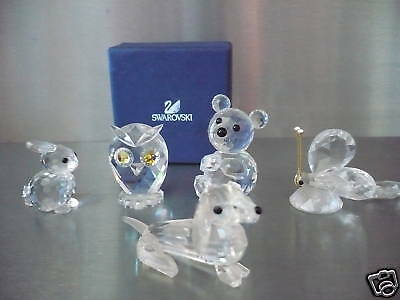 4 BEAUTIFUL__Swarovski FIGURINES__bär-eule-hase-schme_