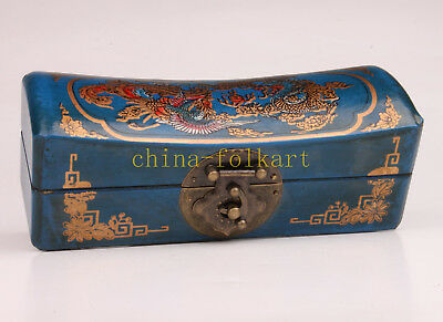 Blue Leather Jewelry Box Longfeng Wedding Article Present