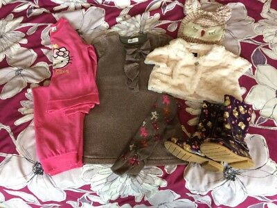 Bundle Girls Winter Clothes 4-5-6 Years H&M Hello Kitty Party Dress Outfit