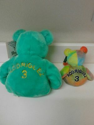 """Alex Rodriguez #3 Salvino""""s 15"""" & 9"""" Beanie Bears with Tags"""