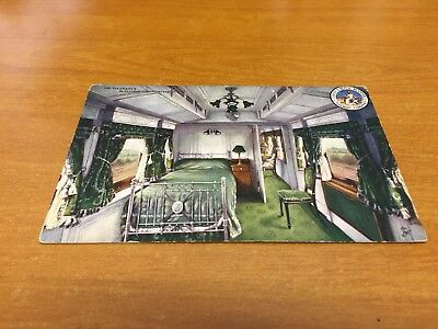 L.N.W.R. Postcard His Majesty's Sleeping Compartment (Used)