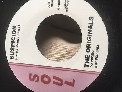 Motowm The Originals - Suspicion Vocal/inst  Pressing