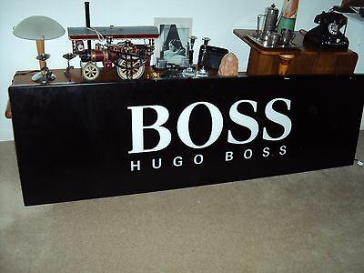 Reclaimed  Iluminated Hugo Boss Shop Sign With Built In Light Box