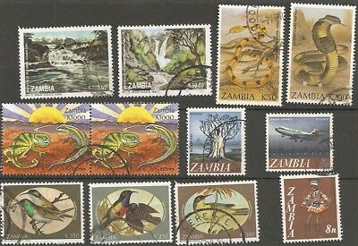 Small selection Zambia stamps (12) Fine Used