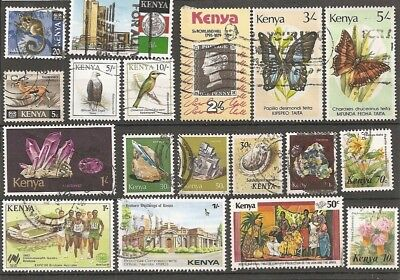 Selection of Modern Kenya stamps (18 GU)