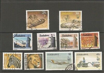 Small selection Zimbabwe Stamps (10 GU.)