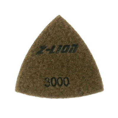 3000 Grit Electroplated Triangular Polishing Diamond Oscillating Pads 93mm