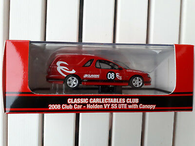 Classic Carlectables Club 2008 Club Car Holden VY SS Ute with Canopy