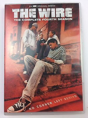 The Wire - The Complete Fourth Season (DVD, 2015, 4-Disc Set) New Open Box VG3