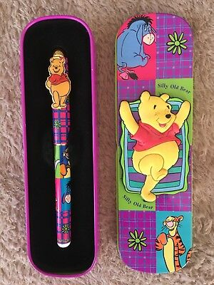 Winnie The Pooh Pen In Collectible Tin