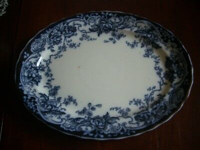 "LOSOL Flow Blue oval 12"" x 9.5"" Chatsworth dinner plate"