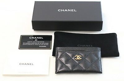 Chanel Black Caviar Classic Card Holder