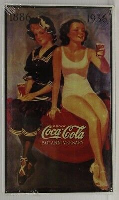 COCA COLA Metal Sign 50th anniversary vintage style old stock coke sign