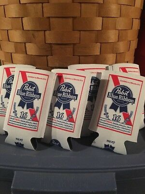 Pabst PBR Art 16 oz Can or 12 oz Bottle Beer Koozies..Set of 6 New