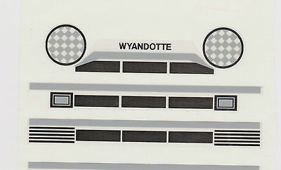 Wyandotte  Grill Decal  With  Head Lights