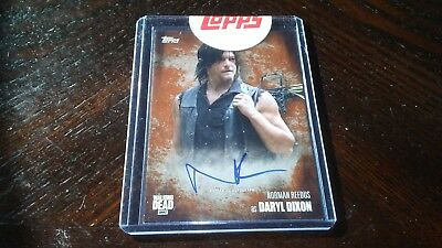 2016 Topps The Walking Dead Season 5 NORMAN REEDUS  Daryl Dixon SEALED Auto /99