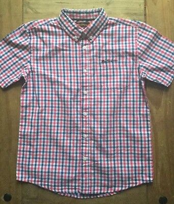 NEW - BEN SHERMAN - Boy's Check Shirt - Age 10-11 - Red / Blue - Gingham - S/S