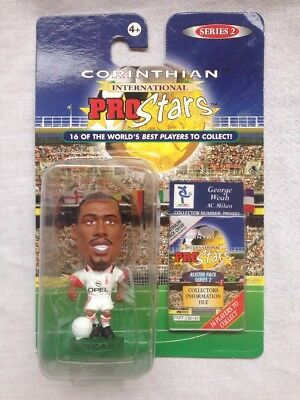 CORINTHIANS PROSTARS FOOTBALL FIGURE BLISTER PACK George Weah AC Milan PRO022
