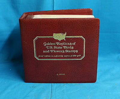 Postal Commemorative Soc. Golden Replicas Of U.S. State Birds and Flowers Stamps