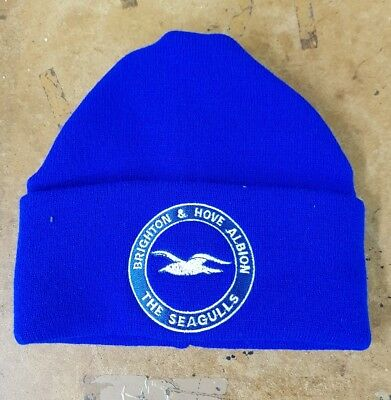 Brighton & Hove Albion  wooly HAT Beanie hat The Seagulls