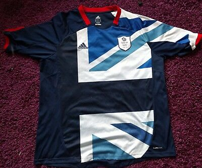 Team GB Football Shirt Olympics Xxl mens top rare England  adidas rangers