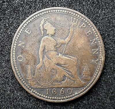 British - 1860 Victoria Penny Beaded Border