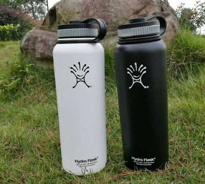 2PC New 40 oz Hydro Flask Insulated Stainless Steel Water Bottle Wide Mouth'