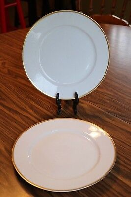 "Pope Gosser China - WASHINGTON - Made in U.S.A. - 9"" Luncheon Plates (2)"