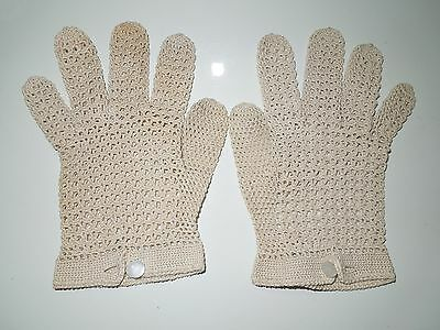 Vintage Gloves, Crochet, Size Small, Great Condition