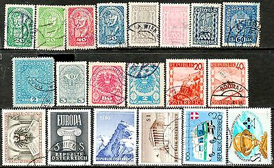 18 Austria Used Stamps - High Cat