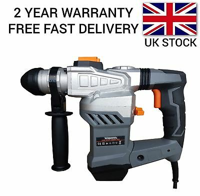 Heavy Duty 1500W Rotary Sds Hammer Drill 240V Chisels & Bits Carry Case
