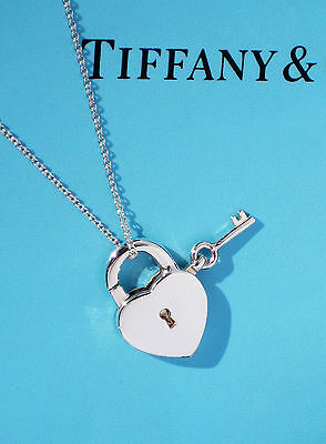 TIFFANY & Co coeur & Clé CADENAS BRELOQUE EN ARGENT STERLING collier