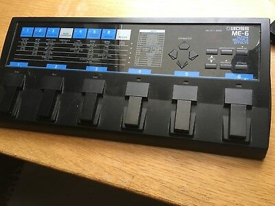 Boss Me-6 Me6 Guitar Digital Multi-Effects Audio Processor Pedal By Roland