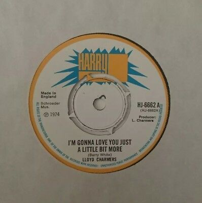 "Lloyd Charmers ""I'm gonna love you just a little bit more"" on the Harry J label"