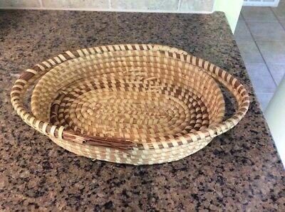 Charleston SC LowCountry Gullah Sweetgrass Sweet Grass Oval Bread Basket