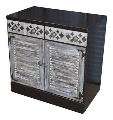 Industrial Style Vintage Ethan Allen Unique Shabby Distressed  Accent Cabinet