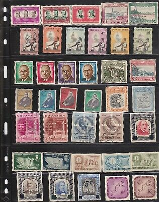 A selection of stamps from Colombia,all different