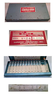 Gardner Bubble Viscometer U-Z6 (vintage sold as shown)