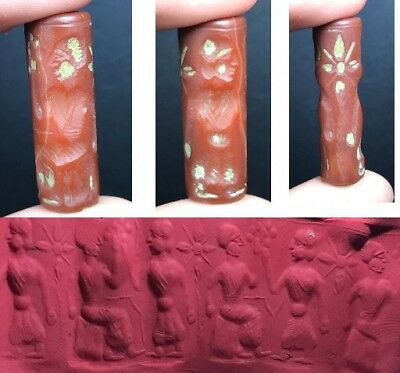 Wonderful Old Agate Stone Intaglio Cylinder Seal