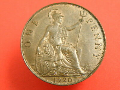 1920 - KING GEORGE V - ONE PENNY COIN - Good Detail