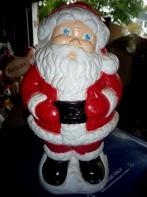 """Grand Venture Jolly Santa Table Top Christmas Lighted Blow Mold 19"""""""