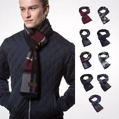 Gallery Seven Mens Scarf - Cotton Winter Scarves - Gift Wrapped Cashmere Feel