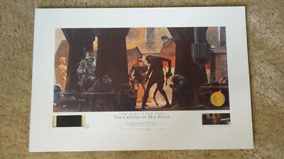 """STAR WARS LITHOGRAPH """"The Cantina On Mos Eisley """" from STAR WARS : A NEW HOPE ."""