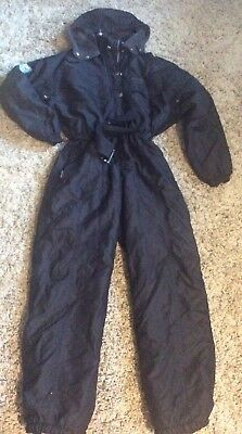 All In One Black Ladies Ski Suit, Size 12