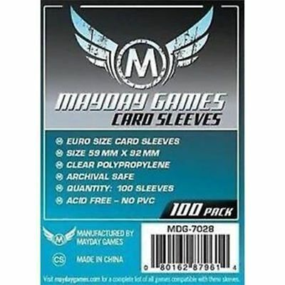 100 Bustine Protettive Sleeves Mayday Games 59x92 mm Buste Giochi Tavolo