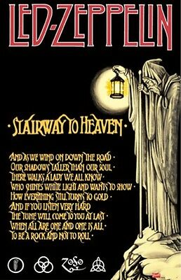 ~~ Led Zeppelin Stairway To Heaven  24X36 Poster ~~