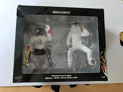 MINICHAMPS 990096 Valentino Rossi Figure & Angel GP250 1999 Ltd Ed 1:12