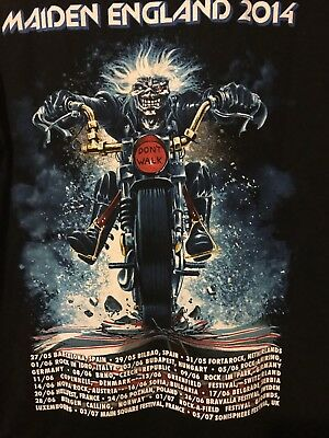 Iron Maiden L Vintage T Shirt Maiden England 2014 World Tour The Trooper Dated