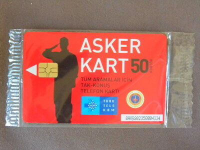 Chip kaart MINT SEALED Turkije - only available at military bases  opl 1000  RRR
