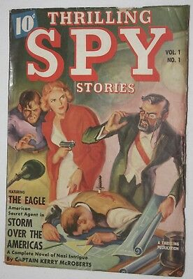 Thrilling Spy Stories ~ Fall 1939 ~ Vol.1No.1 ~  Pulp Fiction ~ VF
